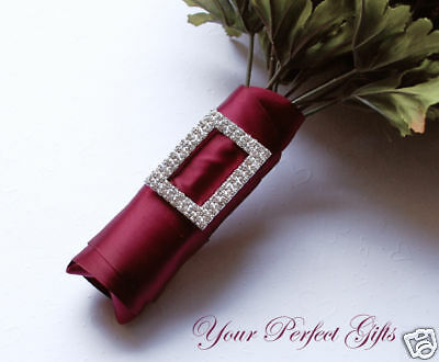 10 pcs 2 RECTANGLE Wedding Boutique Rhinestone Buckles