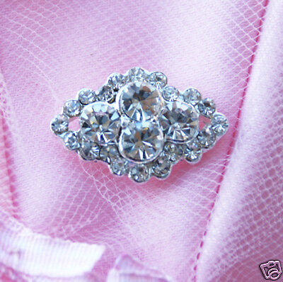 10 Diamond Square 78 Rhinestone Crystal Button Buckle Wedding Invitation BT090