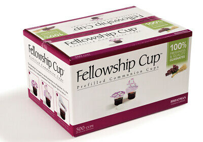 Broadman Fellowship Cup Prefilled Communion Cups Box of 500 Juice and Wafer NEW
