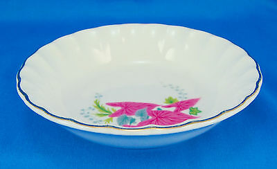 W S George PINK CALADIUMS B8761 Fruit  Dessert Bowl 5-125 in- Leaves Scalloped
