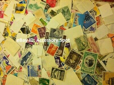 Used off Paper 1000 WW Stamps From huge HOARD BOX collection FREE SHIPPING