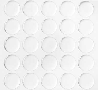 Lot 300 1 Dome Circle Clear Epoxy Stickers for Bottle Cap Crafts 2MM THICKNESS