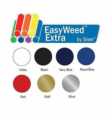 Heat Transfer Vinyl Siser EasyWeed Extra 15 x 1 Foot 2 Color Choices