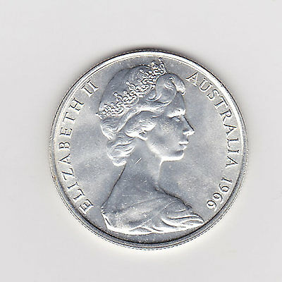1966 AUSTRALIA ROUND FIFTY 50 CENT COIN 80 SILVER - BRILLIANT COINS