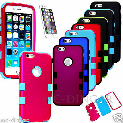 Hybrid Shockproof Hard Rugged Cover Case For Apple iPhone 6  6S 4-7