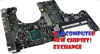 EXCHANGE SERVICE MACBOOK PRO 15 A1286 820-2915-B LOGIC BOARD NEW GPU