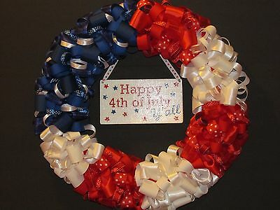 Southern 4th of July Ribbon Wreath