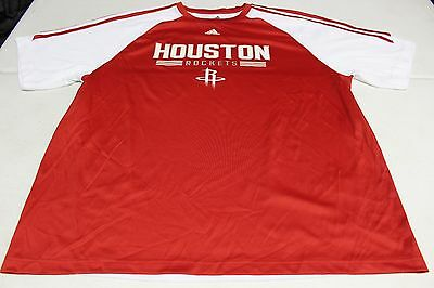 NBA REAL ADIDAS HOUSTON ROCKETS THICK POLYESTER SHIRT SIZE XL NEW NWOT PRACTICE