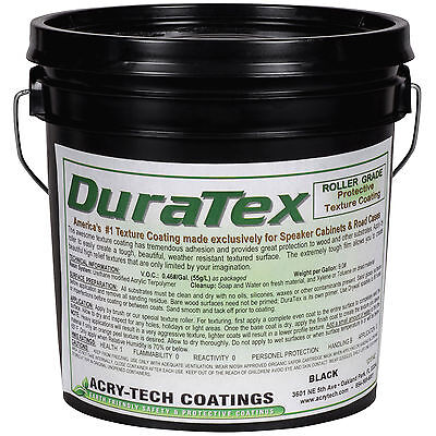 Acry-Tech DuraTex Black 1 Gal Roller Grade Cabinet Coating