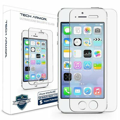 Tech Armor Ballistic Glass Screen Protector 1-Pack for Apple iPhone 55c5sSE