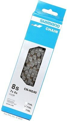 Shimano CN-HG40 678-Speed 116-Links Chain for 182124-Speed MTB  Road Bike