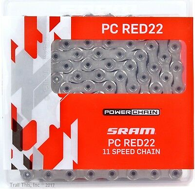 SRAM PC-RED22 11-Speed Hollow-Pin Road Bike Chain 114L fits eTap RED  Force 22