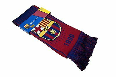 FC BARCELONA SCARF WINTER SOCCER - AUTHENTIC - OFFICIAL MESSI - shipped from USA