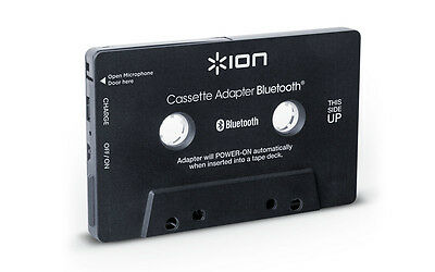 Ion Audio Cassette Bluetooth Adapter Music Receiver for Cassette Deck BlackNEW