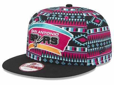 San Antonio Spurs New Era NBA HWC Tri-All Print 9FIFTY Snapback Cap Hat