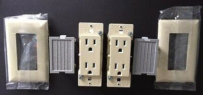 Mobile Home Receptacle Self-Contained Bone w Snap-On Plates  2 pack