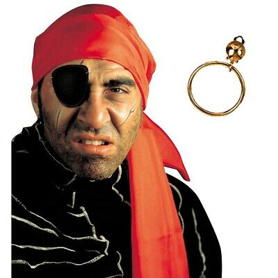 PIRATENSET AUGENKLAPPE OHRRING PIRATENOHRRING PIRATEN KOST M SCHMUCK ACCESSOIRES