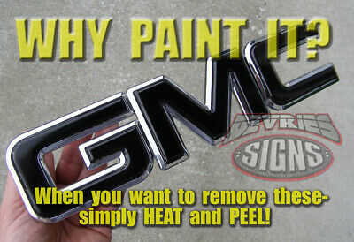 GMC SIERRA PRECUT NO trimming domed gel coated - non-domed emblem overlays