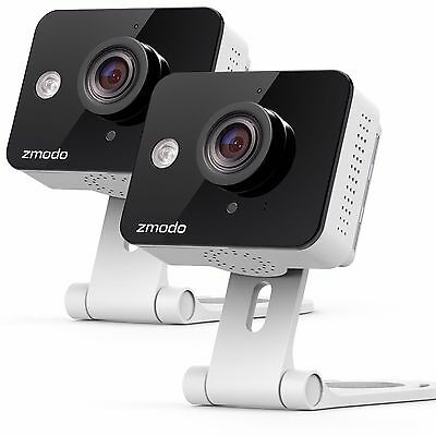 Zmodo 2 Pack Mini HD Wireless Indoor Security Camera Night Vision Two-Way Audio