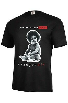 NOTORIOUS B-I-G BIGGIE READY TO DIE BABY BLACK Adult SIzes S-5XL