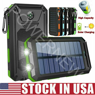 2021 Super 2000000mAh USB Portable Charger Solar Power Bank For Cell Phone