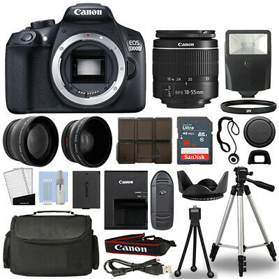 Canon Rebel T6  1300D DSLR Camera - 18-55mm 3 Lens Kit - 16GB Top Value Bundle