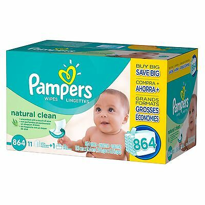 Pampers Natural Clean Baby Wipes 864-Count