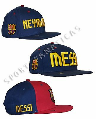 FC Barcelona Adults  Snapback Hat Cap Lionel MESSI 10 soccer Neymar Jr 11