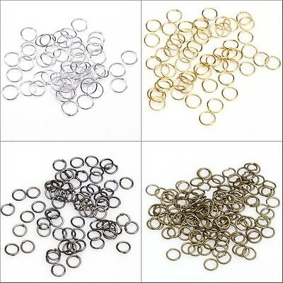 100-500pcs Open Jump Rings Connectors Beads For Jewelry DIY 4567891012mm