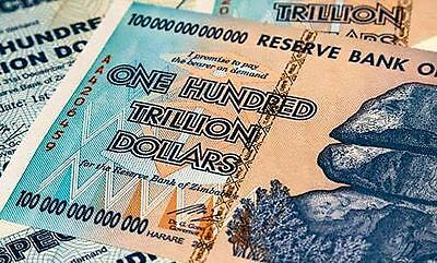 ZIMBABWE 100 TRILLION DOLLARS AA 2008 SERIES P91 UNC AUTHENTIC UV INSPECTED COA