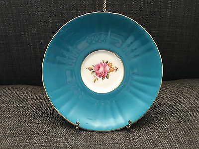 Royal Grafton Teal Fine Bone China Rose Saucer Only