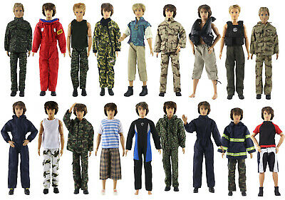 Hot 10 Sets Fashion OutfitsClothes For 12 inch Ken Doll