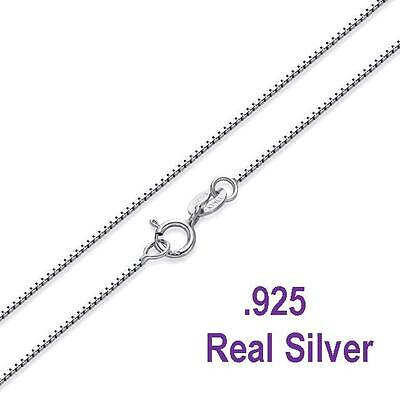 -925 Sterling Silver -8mm Box Chain Necklace for Pendants - Wholesale Prices