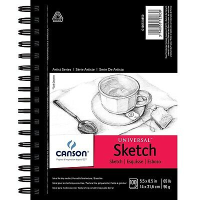100 Sheet Sketch Pad Notebook 9 X 12 Sketchbook Drawing Pencil Art Book NEW