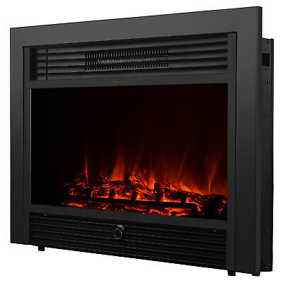 Embedded 28-5 Electric Fireplace Insert Heater Log Flame with Remote Control