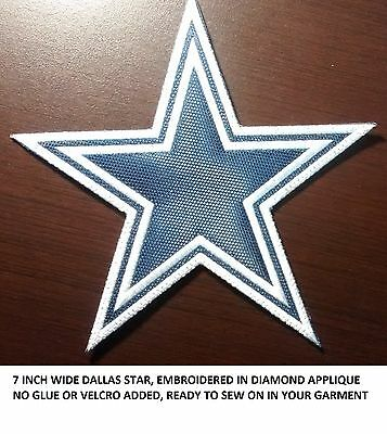 LOVE IT OR ITS FREE 7IN- DALLAS STAR embroidered patch SEW ON FREE SHIP-