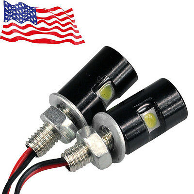 2X Motorcycle Screwt SMD LED Bolt Lamp Car Universal License Plate Light