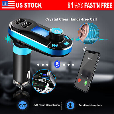 Wireless Car Kit MP3 Player FM Transmitter Radio 2 USB Ports Charger Hands free