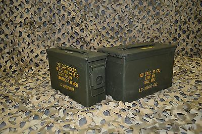 2 Pack  Combo 50 Cal308 Cal AMMO CAN VERY GOOD CONDITION   FREE SHIPPING