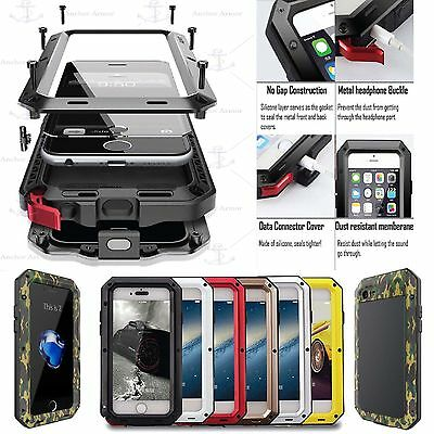 FAST SHIPPING WATERPROOF GORILLA GLASS FULL METAL CASE FOR APPLE IPHONE SAMSUNG