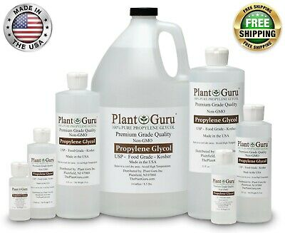Propylene Glycol 99-9 Pure Food Grade USP Kosher NON GMO 1 oz to 1 Gallon PG VG
