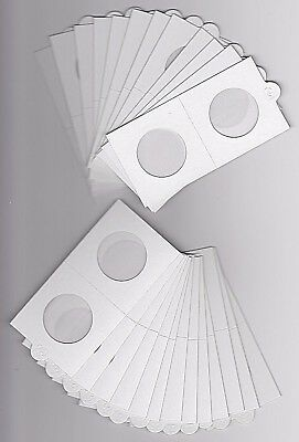 LIGHTHOUSE 30mm SELF ADHESIVE 2x 2 COIN HOLDERS x 25 - SUIT FLORIN 20 CENT