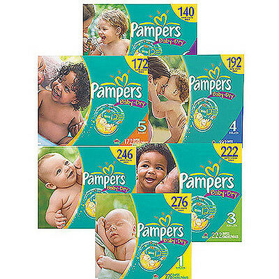 Pampers Baby Dry Diapers Size N 1 2 3 4 5 6 CHEAP NO TAX