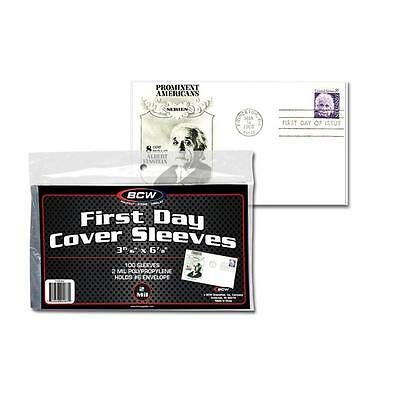 Pack of 100 Sleeves BCW First Day Cover Holds 6 Envelope 3 1516 X 6 78CS12
