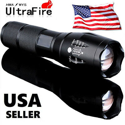 Ultrafire 20000LM 5 Modes T6 LED 18650 Flashlight Zoomable Focus Torch Lamp USA