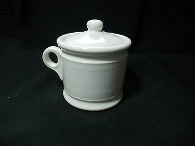 Vintage Hotel W S George  Small Creamer with Lid notched for cream ladle