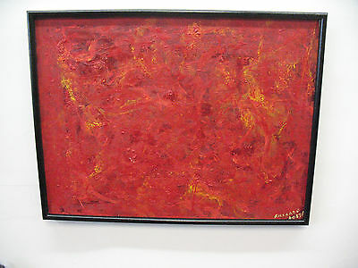 ORIGINAL PAINTING  DANTE ALIGHIERIS INFERNO OIL ON  CANVAS  FRAMED  SIGNED