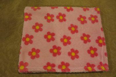 BABY GEAR CUTE BABY GIRLS PINK FLOWERS SOFT BLANKET SIZE 30X38 VGUC