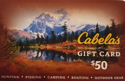 50 Cabelas Gift Card - Postal Mail Only