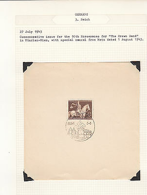 Germany - 1943 Munich Brown Ribbon Postal History collection on Album pages